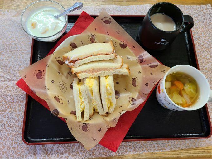 7月のお楽しみ食 3種のサンドイッチ