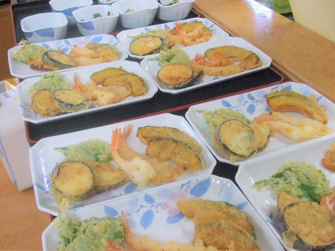 イベント食「赤飯&天ぷら」